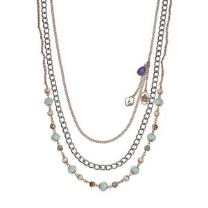 JUICY COUTURE Necklace Multi-Strand Boho Long Bead